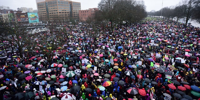 Rebekah Brewis, an organizer of the Women's March On Portland in Portland, Oregon in 2017, was indicted by a grand jury Tuesday over allegations she stole from the march itself.