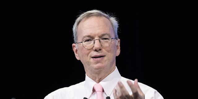 Eric Schmidt, former authority and arch executive of Google, is seen above. (Photo by Christophe Morin/IP3/Getty Images)