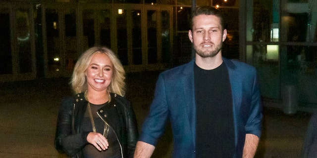 Hayden Panettiere and Brian Hickerson are seen on January 31, 2019 in Los Angeles. Hickerson was arrested for alleged domestic violence against Panettiere in May.