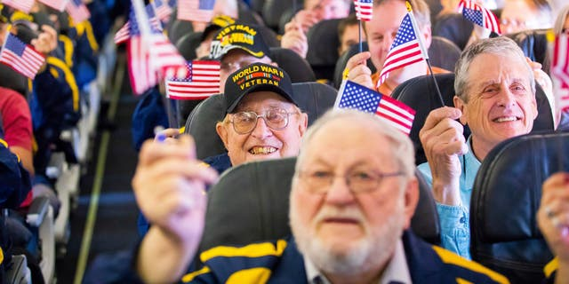 Together with the Last Frontier Honor Flight program, Alaska Airlines arranged to fly 23 veterans of the Korean War, the Vietnam Warand World War II to the nation's capital for a tour of their respective war memorials.