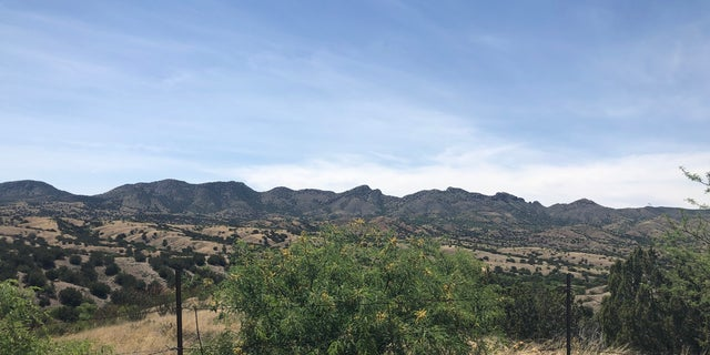 A view of the Santa Rita Mountains off of Highway 83 where the proposed Rosemont Mine site will be built.
