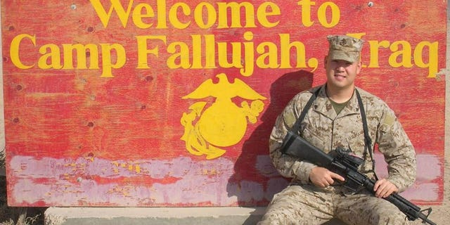 Ahn served as a Marine in Fallujah, Iraq.