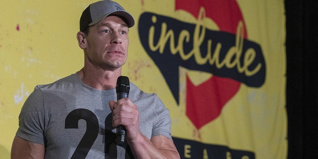 John Cena speaks at the FitOps panel at the 5th Annual Bentonville Film Festival on May 11, 2019 in Bentonville, Ark.