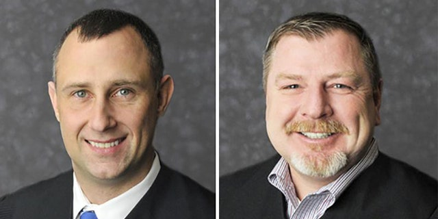 Clark County Judges Brad Jacobs and Andrew Adams. (Indiana Supreme Court)