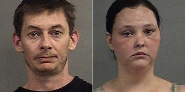 Sean Landrey, 38, and Jessica Downs, 31, face charges after police found their home littered with cockroaches.
