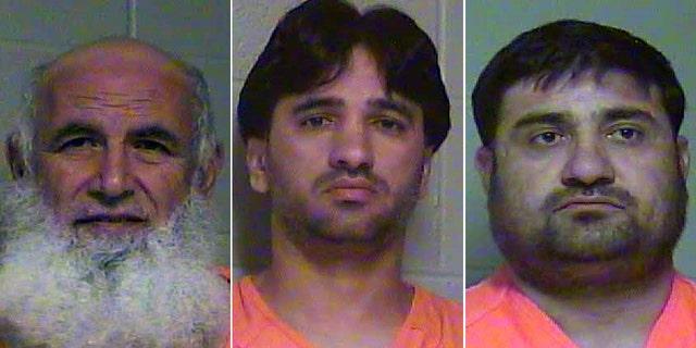 From left,Mahmoud Shaker Shalash, John Sadiqullah and Abdul Hadi.