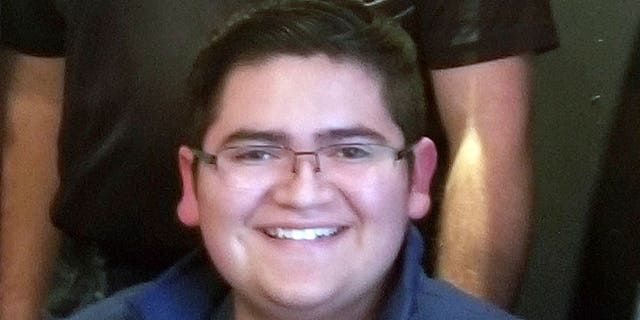 "Kendrick Castillo, 18, died on Tuesday during a school at the STEM School Highlands Ranch in Colorado. <br data-cke-eol=""1"">"