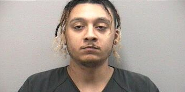 Kyle Jamison Jones, 30, allegedly woke his girlfriend up by slapping her in the face with a cheeseburger on May 4.