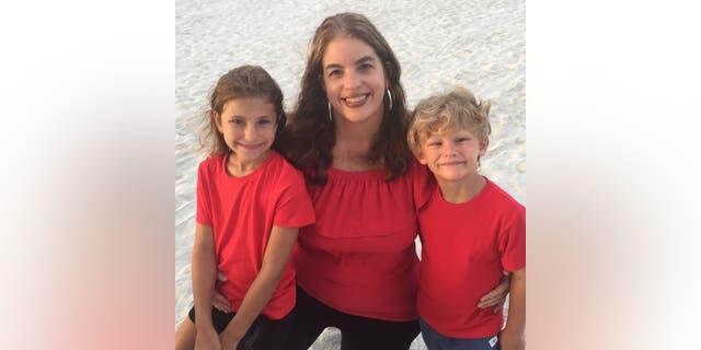 Lisa Wheeler and her kids.