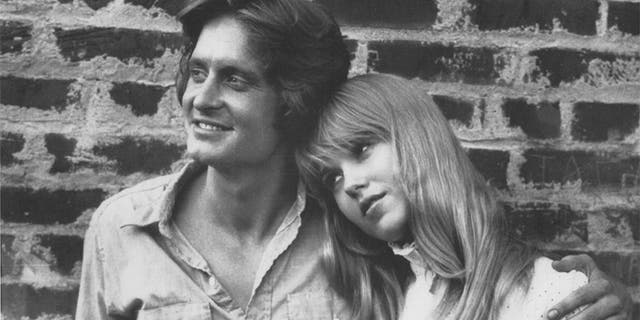 Lee Purcell with Michael Douglas. — Courtesy of Lee Purcell Archives