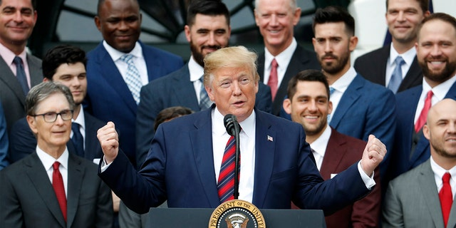 Westlake Legal Group MLB-Trump-Red-Sox2 MSNBC guest suggests Trump was probably 'happy' players of color didn't show up to White House ceremony Ryan Gaydos fox-news/sports/mlb/boston-red-sox fox-news/sports/mlb fox-news/politics/executive/white-house fox-news/person/donald-trump fox-news/entertainment/media fox news fnc/entertainment fnc article 53fa1a18-1628-59bd-ae9b-d254314d8f0d
