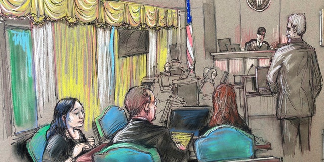 Yujing Zhang, seen in this April 15, 2019 file court sketch, told U.S. District Judge Roy Altman on Tuesday that she wants to fire her attorneys and represent herself.