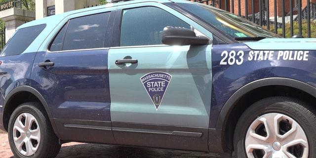 The seal and motto are featured on Massachusetts State Police cars.