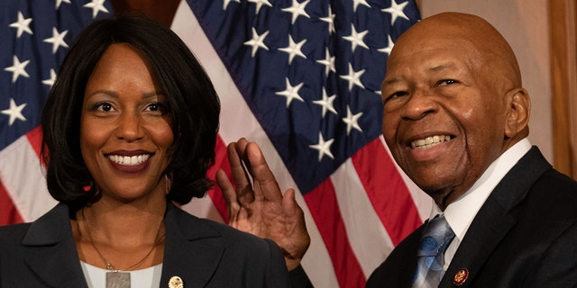 Rockeymoore Cummings, left, also sits as chair of the Maryland Democratic Party, while Rep. Cummings, D-Md., is currently heading up a number of probes into President Trump's conduct. (Photo by Cheriss May/NurPhoto via Getty Images)