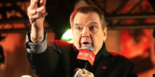 "Meat Loaf speaks to the crowd at the launch for Jim Steinman's ""Bat Out of Hell The Musical"" at the London Coliseum on St Martin's Lane on Nov. 3, 2016, in London.(Getty Images)"