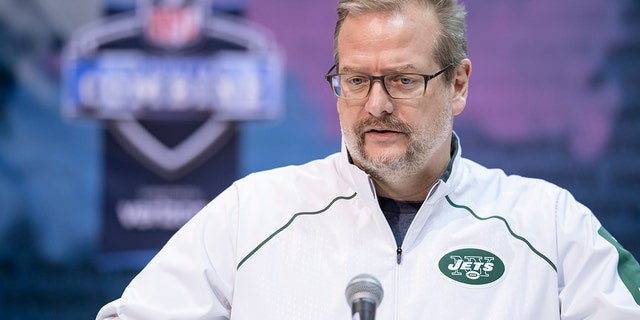 Mike Maccagnan was a ubiquitous manager of a New York Jets for 4 seasons before Wednesday's firing. (Photo by Michael Hickey/Getty Images)