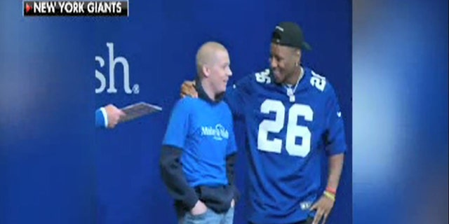 Giants running back Saquon Barkley meets Jared.