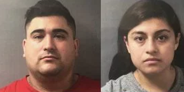 Luis Posso, left, and Dayan Media Flores, were charged with felony neglect of a 12-year-old boy, police said.
