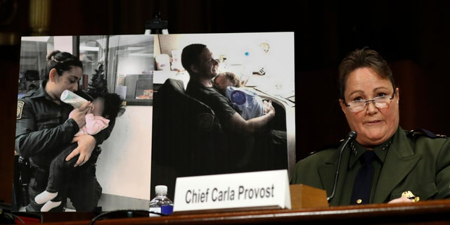 U.S. Border Patrol Chief Carla Provost testifies during a Senate Judiciary Border Security and Immigration Subcommittee hearing about the border, Wednesday May 8, 2019, on Capitol Hill in Washington. (AP Photo/Jacquelyn Martin)