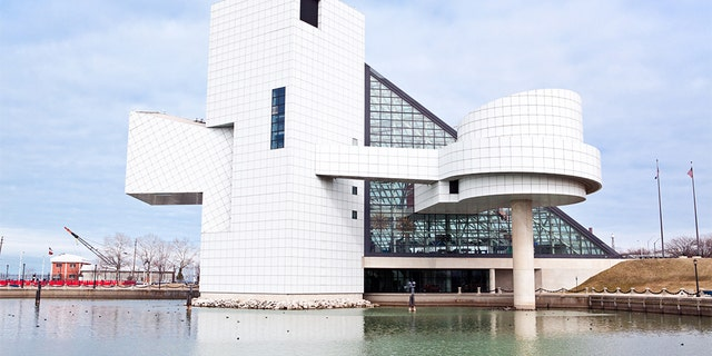 The Rock and Roll Hall of Fame in Cleveland, Ohio