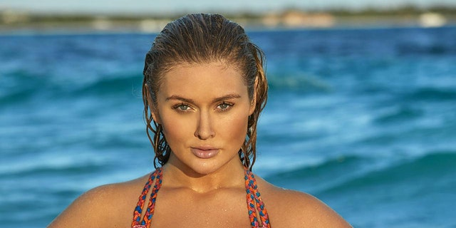 Hunter McGrady wore nothing but body paint when she appeared in Sports Illustrated Swimsuit for the first time.