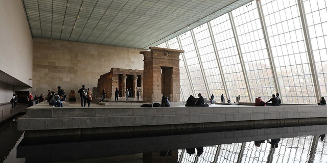 The Sackler name is emblazoned on a walls during some of a world's good museums. (Spencer Platt/Getty Images)