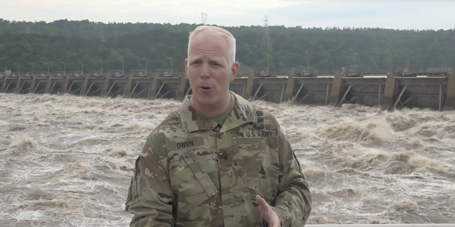 """""""The Dardanelle Lock and Dam is a navigation lock and dam, it's primary purpose for navigation, it's not for flood control…the water is exceptionally high and this is a very rare circumstance to have the water this high,"""" Paul Owen, US Army Corps of Engineers southwestern division commander brigadier general, said."""