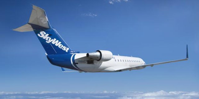 A SkyWest plane.