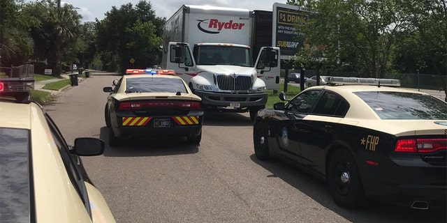 The truck was stopped after the suspect allegedly led troopers on a chase on Interstate 295.