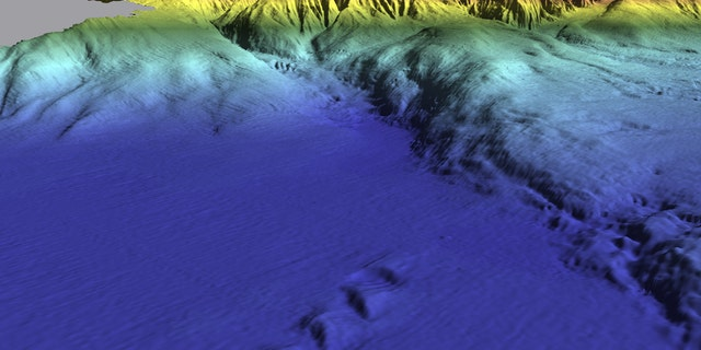 A 3D rendering of the Horseshoe Tectonic Fault