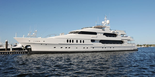 "Tiger Woods' yacht ""Privacy."""