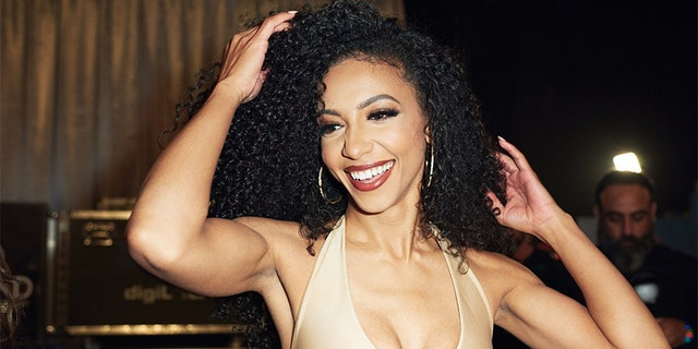 Cheslie Kryst, Miss North Carolina USA 2019, backstage during the MISS USA® Competition at Grand Sierra Resort and Casino's (GSR) Grand Theatre on Thursday, May 2.