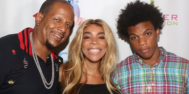 Kevin Hunter, estranged wife Wendy Williams and their son Kevin Hunter Jr. pose at a celebration for The Hunter Foundation Charity that helps fund programs for families and youth communities in need of help and guidance at Planet Hollywood Times Square on July 11, 2017 in New York City. (Photo by Bruce Glikas/Bruce Glikas/Getty Images)