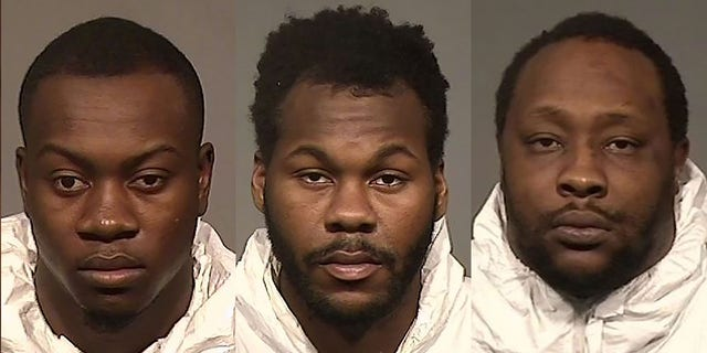 (L-R) Siddiq Abdullah,Nakia Jones and Jaray Simmons could face life in prison forconspiracy to commit robbery affecting interstate commerce, conspiracy to possess with intent to distribute marijuana and use or possession of a firearm.