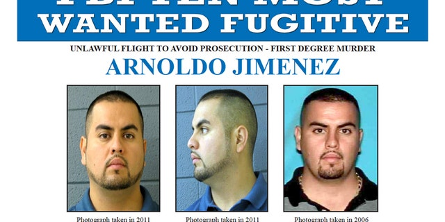 """The FBI added Arnoldo Jimenez to the agency's """"Ten Most Wanted' fugitive list. Jimenez is accused of killing his new wife on their wedding night and possibly fleeing the country."""
