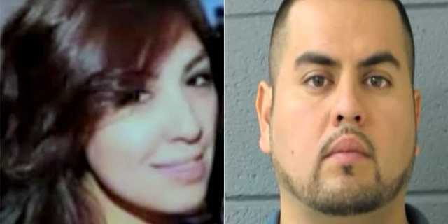 Arnoldo Jimenez (right) is accused of stabbing to death his wife, Estrella Carrera, hours after the two were married in May 2012.