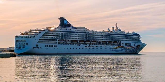 An external shot of theNorwegian Cruise Line Spirit ship.