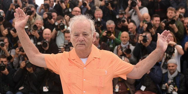Actor Bill Murray poses for photographers at the photo call for the film 'The Dead Don't Die' at the 72nd international film festival, Cannes, southern France, Wednesday, May 15, 2019.