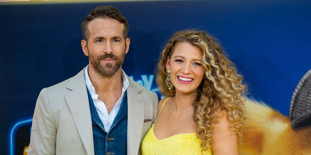 Ryan Reynolds and Blake Lively attend the 'Pokemon Detective Pikachu' U.S. Premiere at Times Square on May 02, 2019 in New York City.