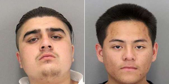 Bryan Gonzalez, 19, and Jonathan Jimenez, 18, two of the suspects accused of luring robbery victims via the dating app Tinder.