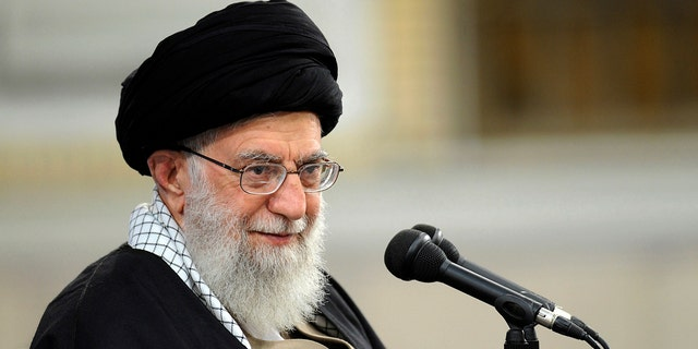 n this Jan. 9, 2019, file photo, released by an official website of the office of the Iranian supreme leader, Supreme Leader Ayatollah Ali Khamenei speaks at a meeting in Tehran, Iran. (Office of the Iranian Supreme Leader via AP, File)