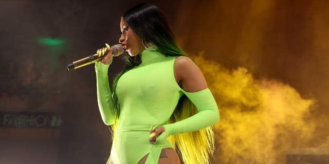Cardi B performs onstage at Fashion Nova Presents: Party With Cardi at Hollywood Palladium on May 9, 2019 in Los Angeles, California. (Photo by Randy Shropshire/Getty Images for Fashion Nova)