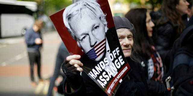 """Assange was sentenced on Wednesday after his appearance at London's Southwark Crown Court. After the judge handed the sentence, a group of protesters shouted """"shame on you.""""<br data-cke-eol=""""1"""">"""