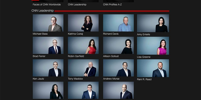 A list of CNN's leadership posted on its website does not appear to include any people of color.