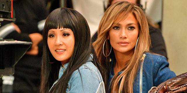 "Constance Wu and Jennifer Lopez film ""Hustlers"" in West Nyack, N.Y."