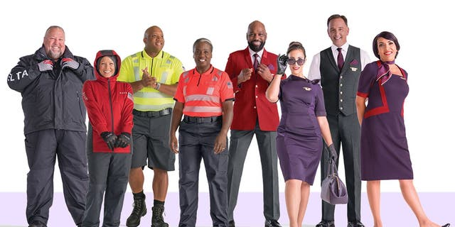 """One year ago, the Atlanta-based carrier <a data-cke-saved-href=""""https://www.foxnews.com/travel/deltas-20-million-designer-uniforms-draw-mixed-reviews"""" href=""""https://www.foxnews.com/travel/deltas-20-million-designer-uniforms-draw-mixed-reviews"""">issued new uniforms</a>, pictured, for its 64,000 employees working in its airplanes, airports and hangars all over the world, to the reported tune of $20 million."""