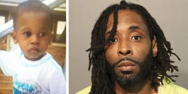 Kamel Harris, 44, (right) allegedly killed 2-year-old Kyrian Knox (left) and dismembered his body in August 2015. According to reports, Harris was watching Knox while Knox's mother was preparing to move to Iowa.