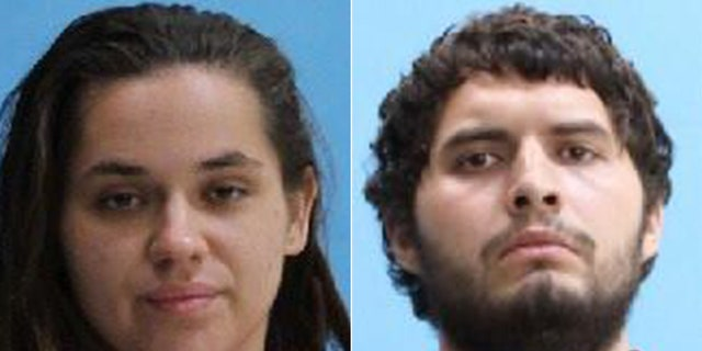 Francine Olson, left, and Brandon Reyes were arrested in Florida this week after trying to pose as detectives in a failed effort to get 'their partner' out of jail, police say.