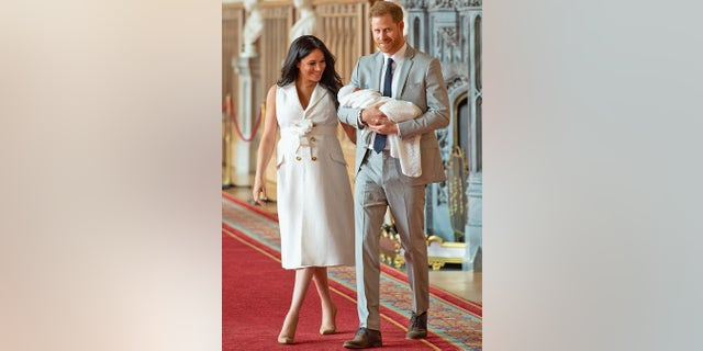 Meghan Markle and Prince Harry proudly show their son, currently known as Baby Sussex. The royal baby was born on May 6.