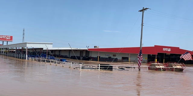 Businesses and homes across Oklahoma are submerged n flood waters